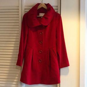 CrocoLadies Red Wool Coat